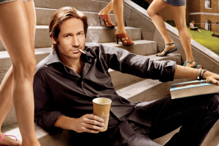 Californication TV Series with David Duchovny papel de parede para celular para Nokia Asha 201