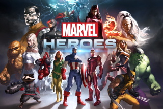 Marvel Comics Heroes Background for Samsung Google Nexus S 4G