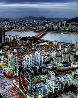 Seoul Panorama South Korea Background for 320x480
