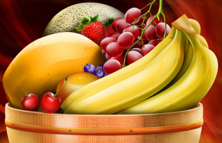 Fruit Basket Background for Android, iPhone and iPad