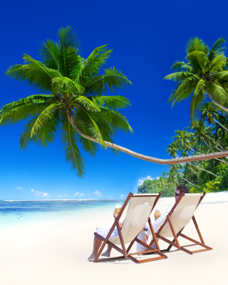 Vacation in Tropical Paradise Wallpaper for 128x160