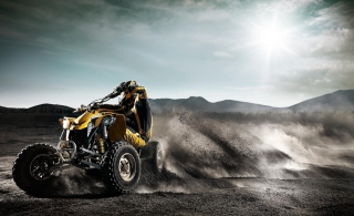 Quad Bike In Desert sfondi gratuiti per cellulari Android, iPhone, iPad e desktop