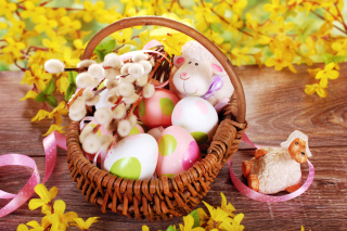Easter Basket And Sheep - Fondos de pantalla gratis