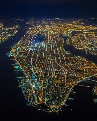 New York City Night View From Space Wallpaper for iPhone 5