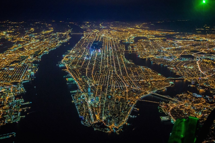 New York City Night View From Space wallpaper