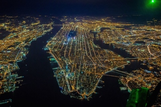 New York City Night View From Space Picture for Android, iPhone and iPad