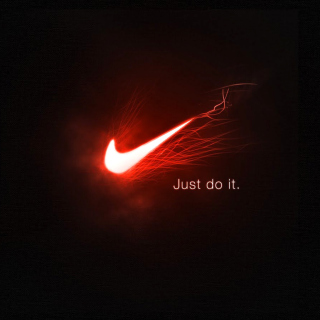 Nike Advertising Slogan Just Do It - Obrázkek zdarma pro iPad