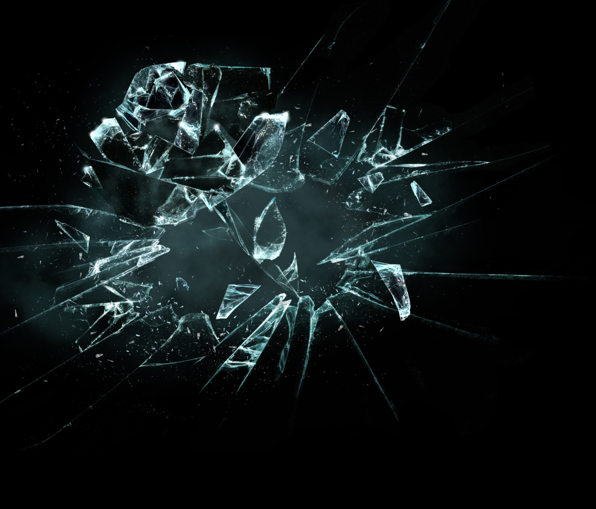 Sfondi 3D Broken Glass 1200x1024