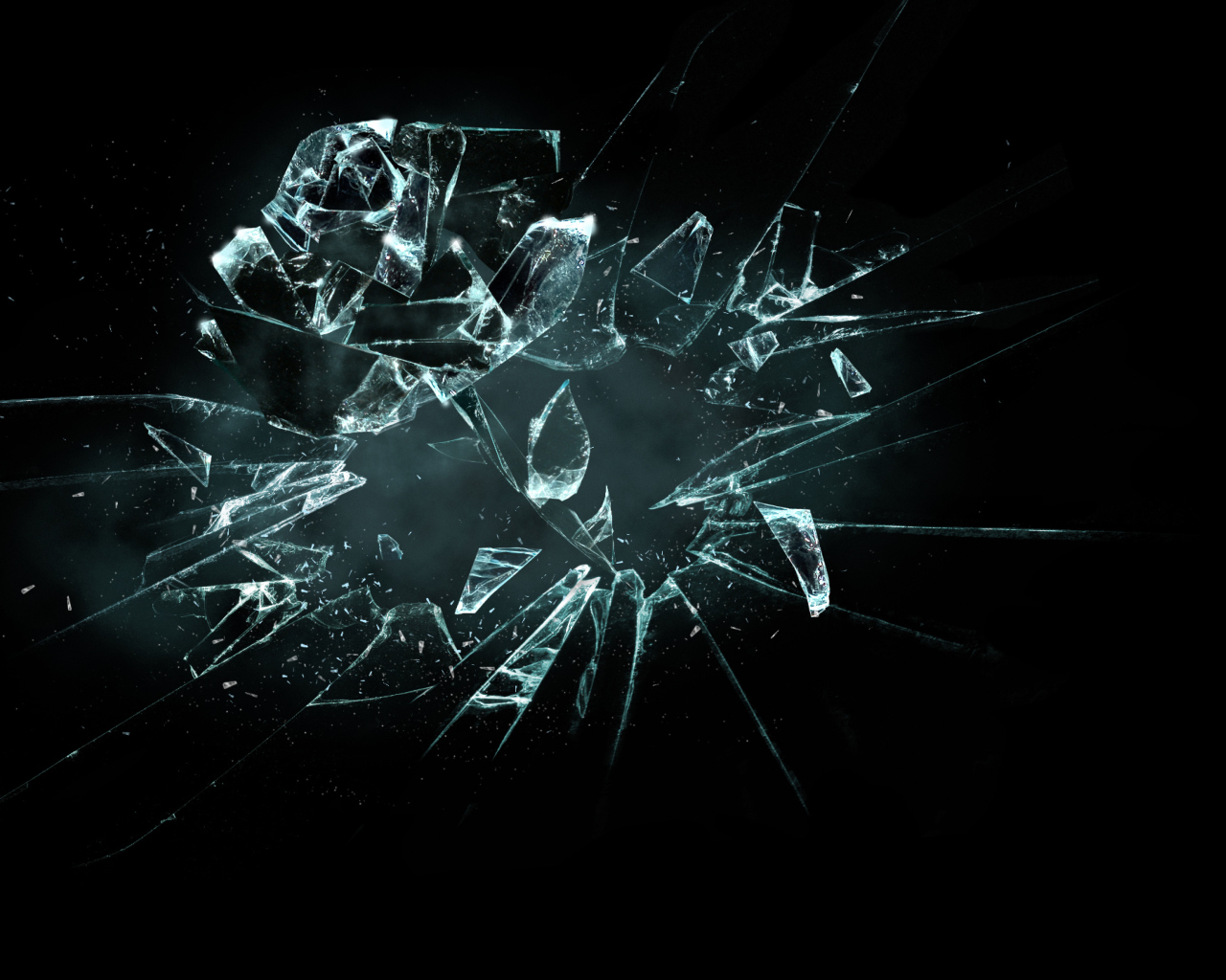 Screenshot №1 pro téma 3D Broken Glass 1280x1024
