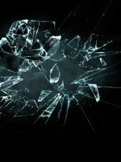 3D Broken Glass wallpaper 240x320