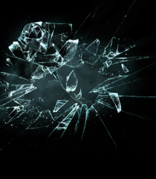 Free 3D Broken Glass Picture for Nokia Asha 306