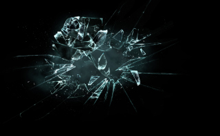 Free 3D Broken Glass Picture for 960x800