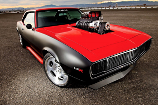 Chevrolet Hot Rod Muscle Car with GM Engine Wallpaper for Android, iPhone and iPad
