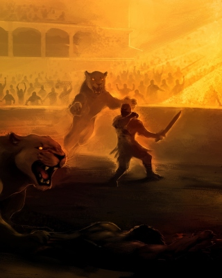 Gladiator Arena Fighting Game Background for Nokia Asha 306
