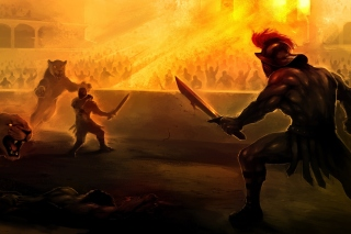 Gladiator Arena Fighting Game Background for Samsung Galaxy S3