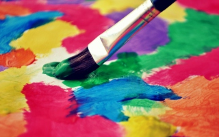 Art Brush And Colorful Paint - Obrázkek zdarma