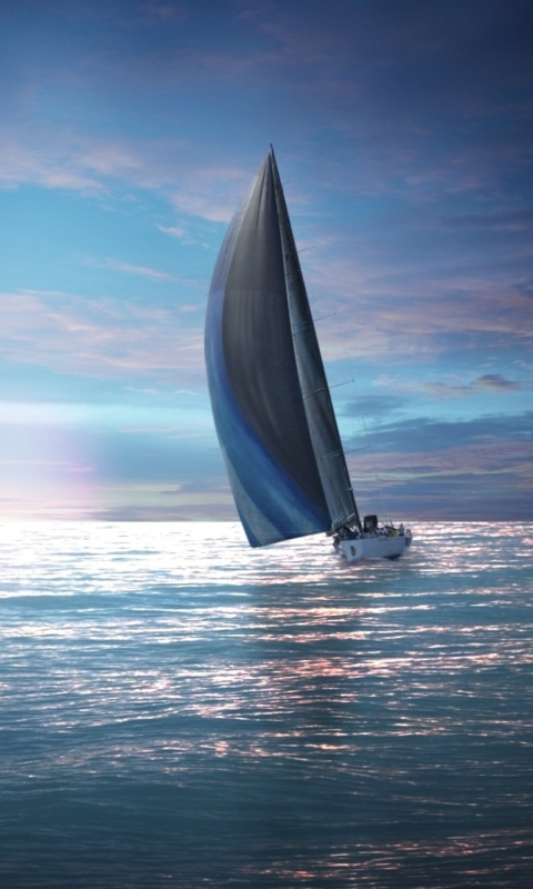 Sailing Boat wallpaper 480x800