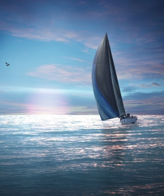 Free Sailing Boat Picture for HTC Titan