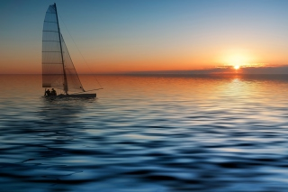 Boat At Sea Wallpaper for 800x480