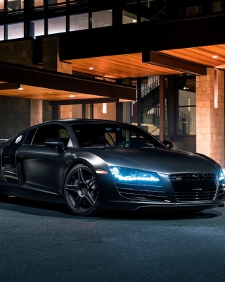 Audi R8 Black Body Kit papel de parede para celular para Nokia Lumia 2520
