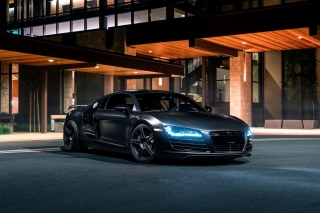 Audi R8 Black Body Kit Background for Android, iPhone and iPad