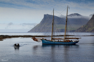 Bay Faroe Islands, Denmark Background for Android, iPhone and iPad