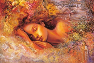 Josephine Wall Paintings - Dream - Obrázkek zdarma