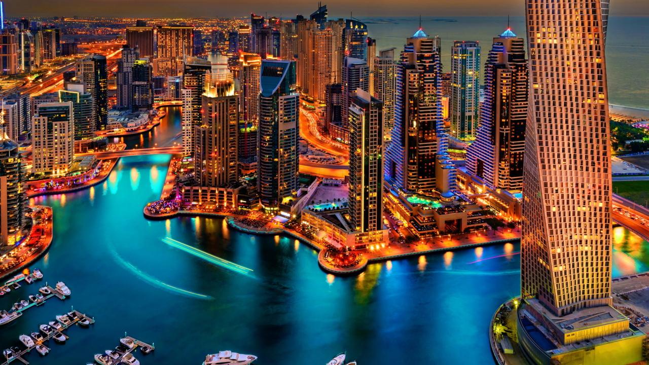 Dubai Marina And Yachts