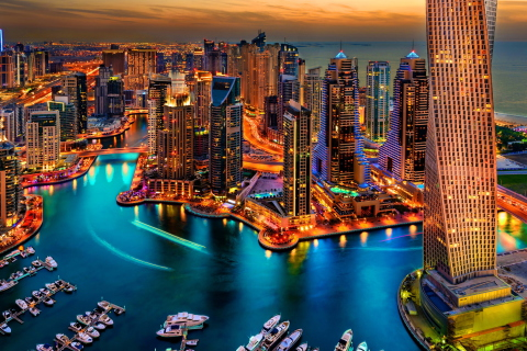 Dubai Marina And Yachts para LG E400 Optimus L3