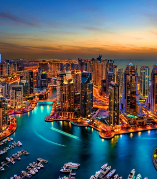 Dubai Marina And Yachts Wallpaper for Nokia Asha 311