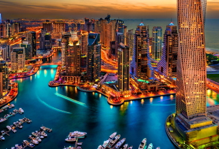 Free Dubai Marina And Yachts Picture for Android, iPhone and iPad