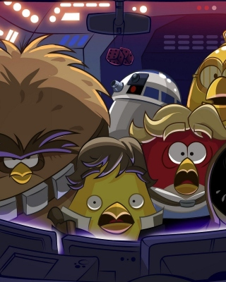 Angry Birds Star Wars Background for Nokia 5800 XpressMusic