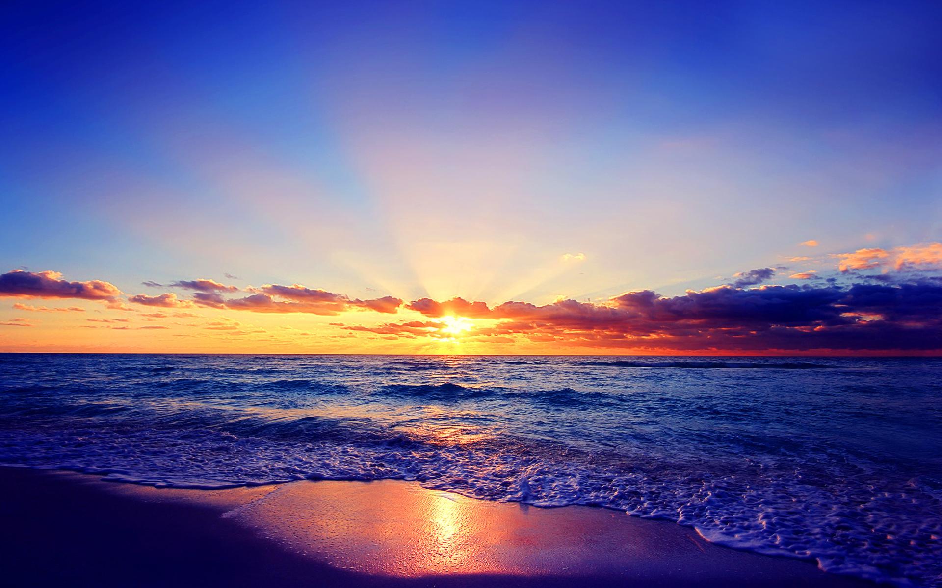 Romantic sea sunset sfondi gratuiti per widescreen desktop for Immagini natura hd