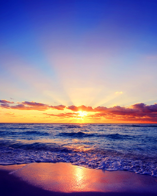 Romantic Sea Sunset Background for iPhone 6 Plus
