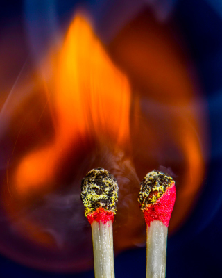Fire from matches Wallpaper for Nokia C5-06
