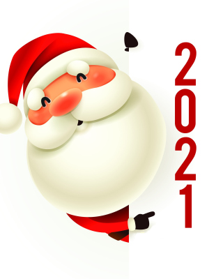 New Year 2021 Сard Wallpaper for 360x640