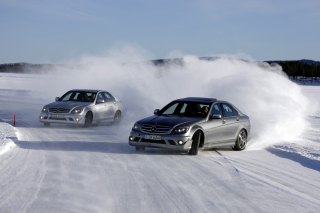 Mercedes Snow Drift Picture for Android, iPhone and iPad