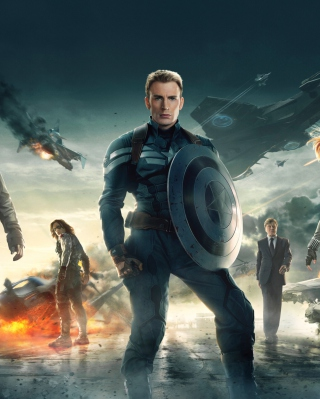 Captain America The Winter Soldier 2014 papel de parede para celular para 640x1136
