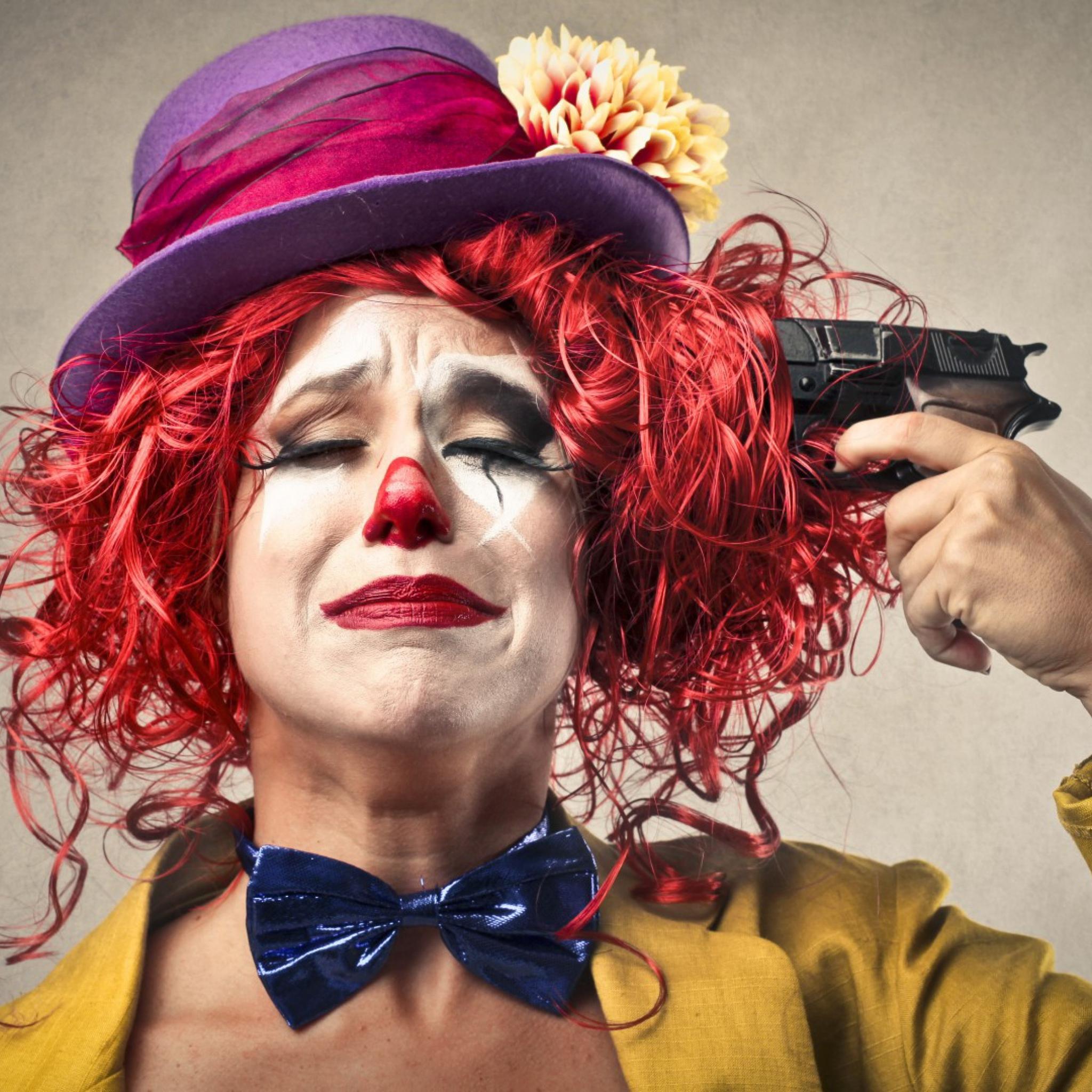 Женщина с клоуном картинки