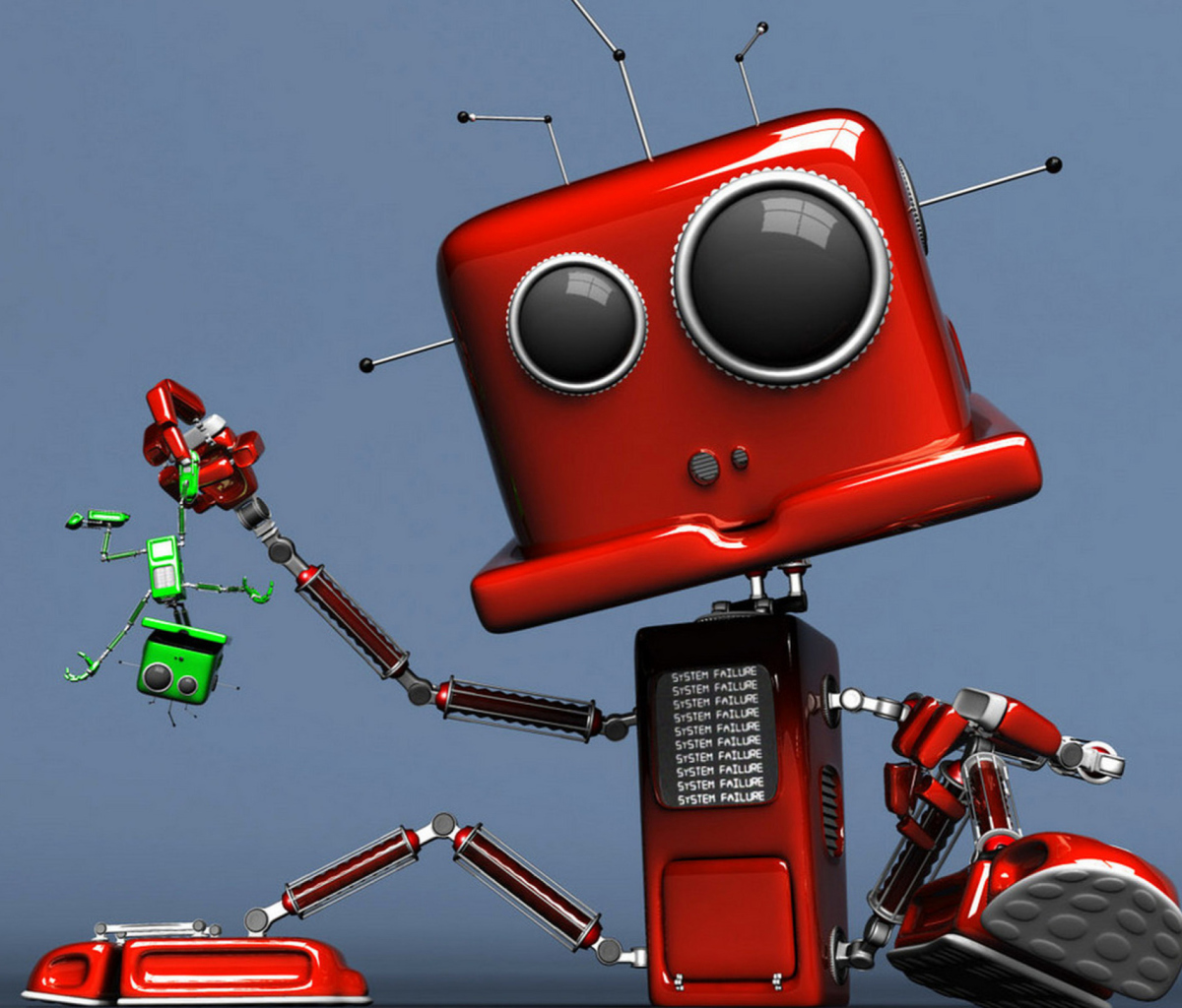 Red Robot wallpaper 1200x1024