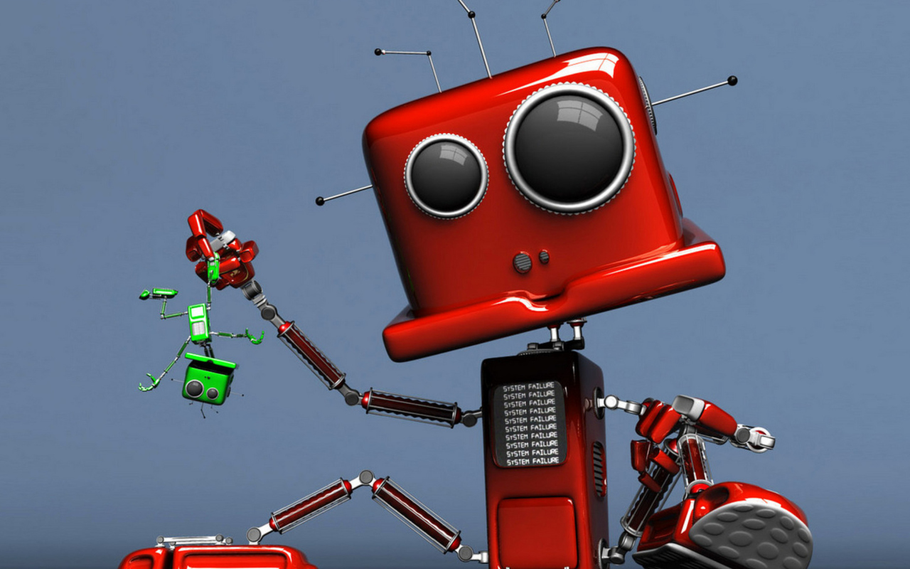 Red Robot wallpaper 1280x800