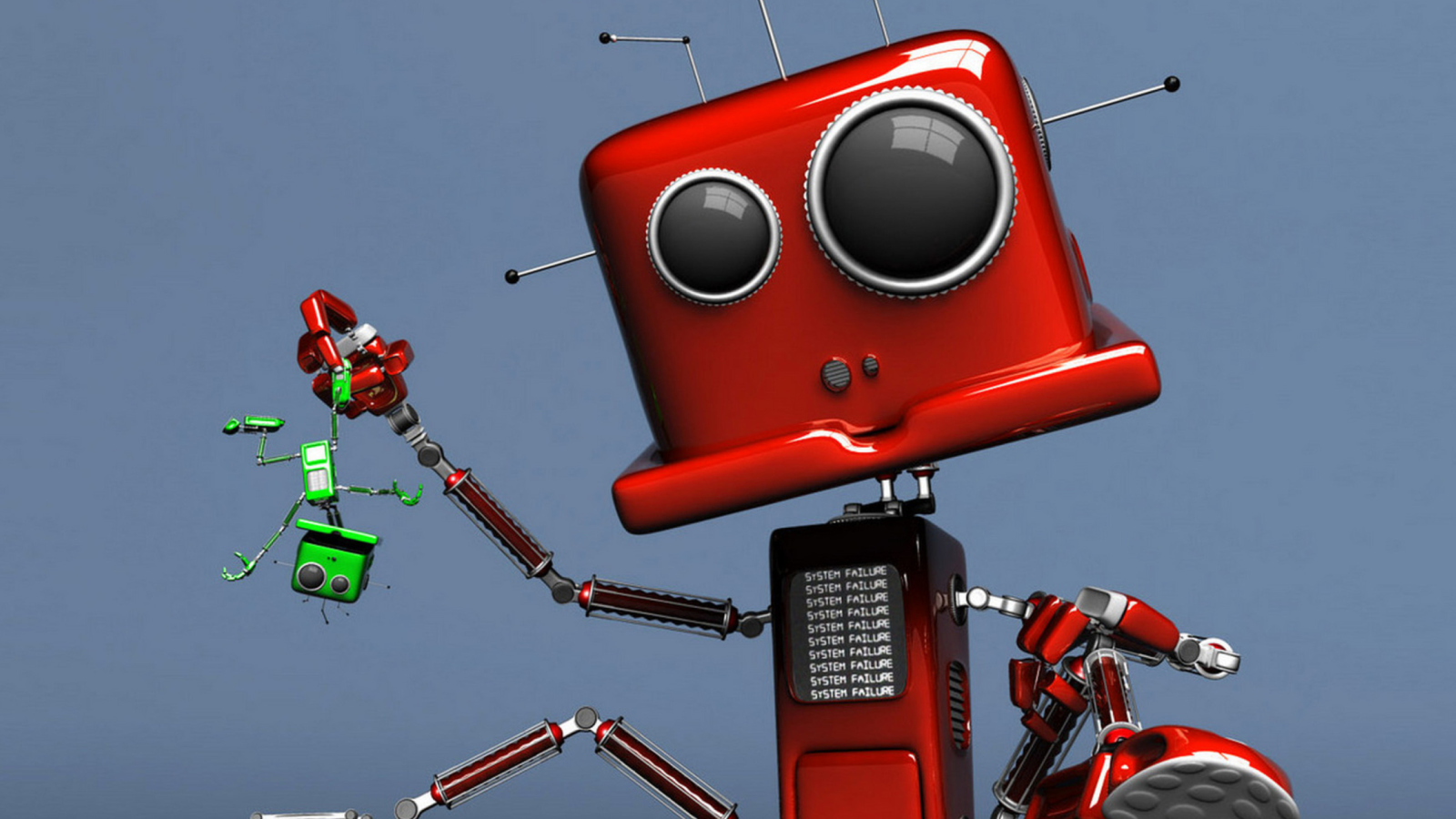 Red Robot wallpaper 1600x900