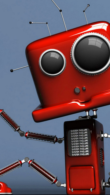 Red Robot wallpaper 360x640