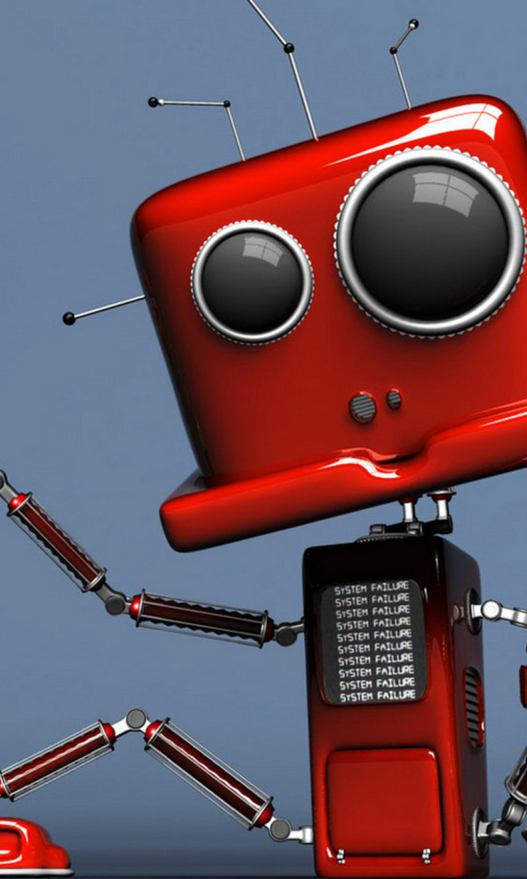 Red Robot wallpaper 768x1280