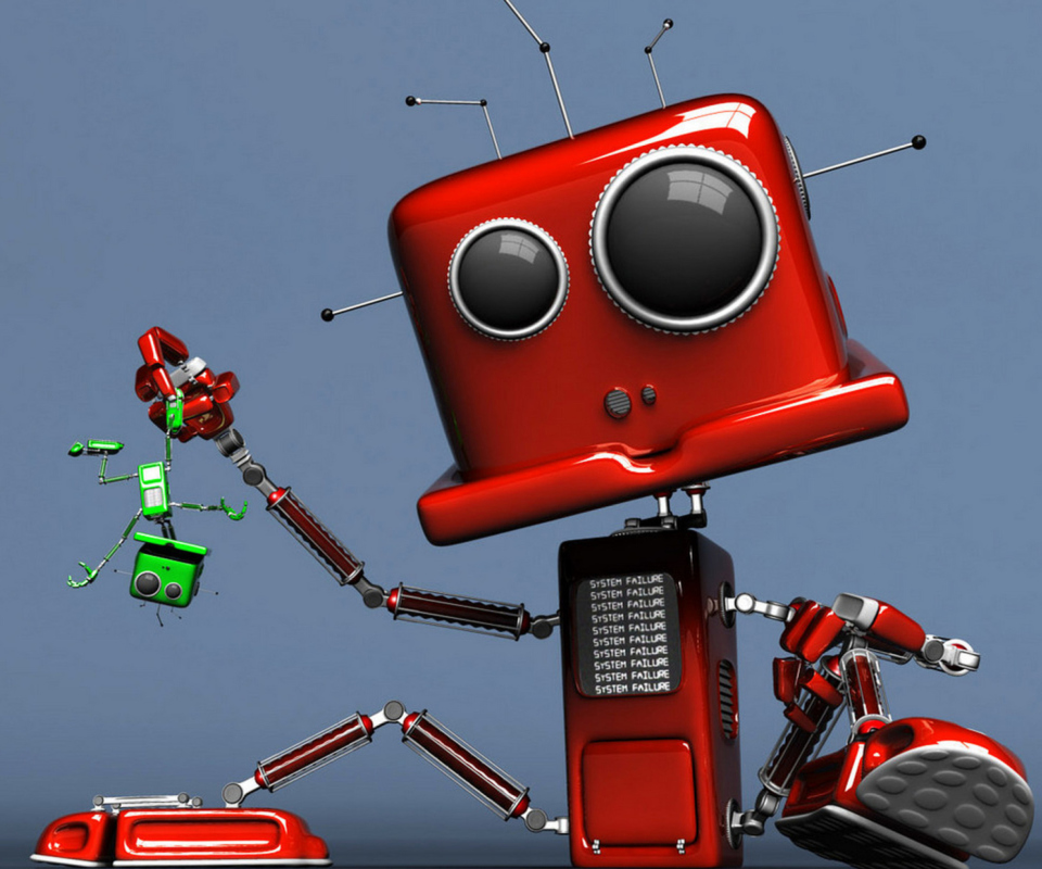 Red Robot wallpaper 960x800