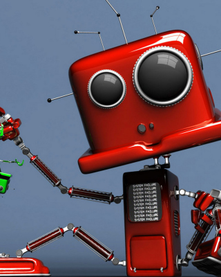 Red Robot Wallpaper for HTC Titan