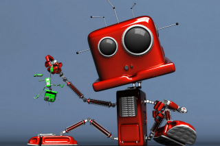 Free Red Robot Picture for Android, iPhone and iPad