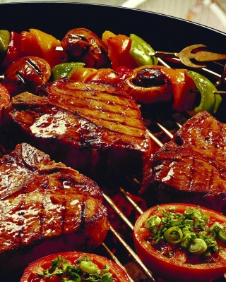 Free Barbecue and Grilling Meats Picture for Nokia Asha 306