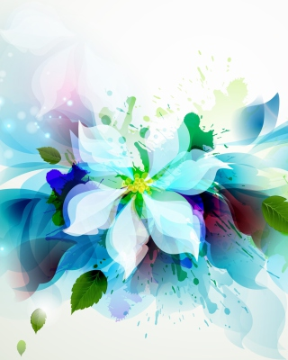 Drawn flower petals Wallpaper for Nokia C1-01