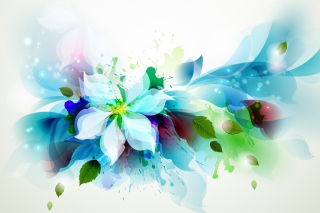 Drawn flower petals Wallpaper for Android 2560x1600